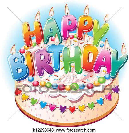 compleanno clipart clip torta compleanno k12298648 cerca clipart
