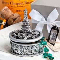 Parisian Wedding Favors by Eiffel Tower Design Curio Box Favors Baby Shower Theme