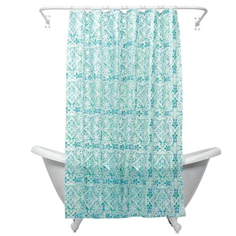 teal shower curtain liner zenna home india ink morocco peva shower curtain liner