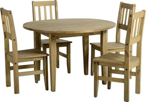 Mexican Dining Table And Chairs Corona Circular Drop Leaf Mexican Pine Dining Table And 4 Chairs New Ebay