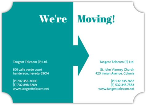business moving cards templates arrow business moving announcement business moving