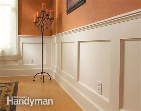 How To Build Wainscoting Panels by How To Build A Wainscoted Wall The Family Handyman