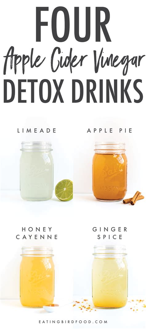 Make Your Own Detox Drink To Pass Test by Apple Cider Vinegar Detox Drinks Bird Food