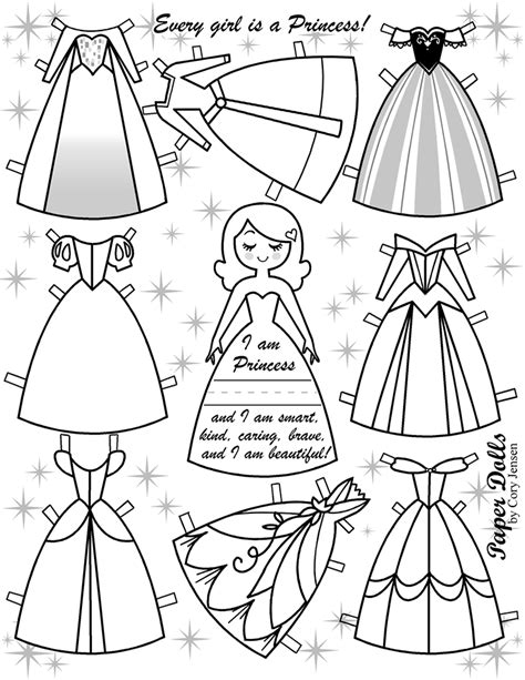 For Your Princesses Free Disney Inspired Paper Dolls Paper Princess Coloring Pages