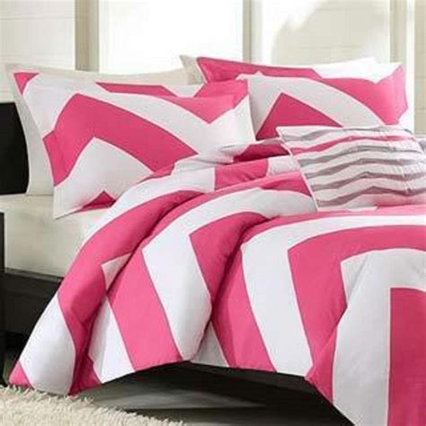 pink chevron bedding comforter set 4pc full queen modern chevron textured pink