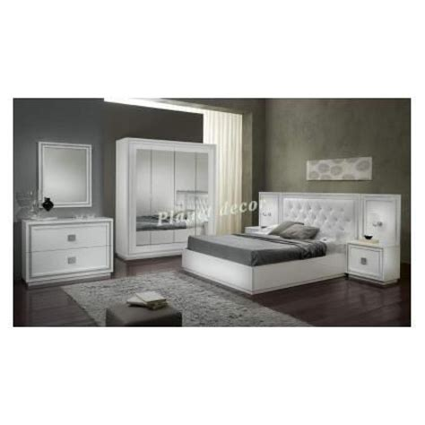 chambre 224 coucher complete model kristel blanc achat