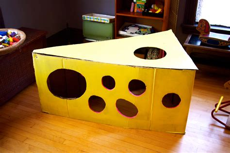How To Make A Paper Fort - our cardboard swiss cheese chalet the cardboard collective
