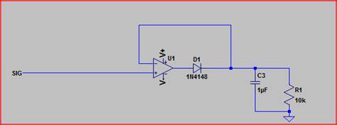 diode peak detector capacitor adding decay fall to comparator circuit electrical engineering stack exchange