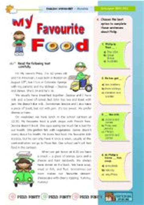 My Favorite Clothes Essay by Teaching Worksheets My Favourite Food