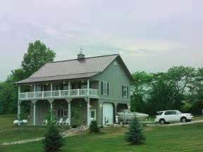 30 x 40 two story metal building home with balcony amp porch