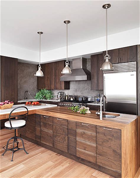 Modern Wood Kitchen Cabinets Mix And Chic A And Handsome Wood Kitchen