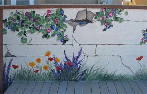 Garden Wall Murals Ideas garden walls window ideas wall ideas wall murals garden murals outdoor