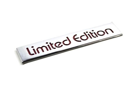 magnum limited edition chrome badge emblem