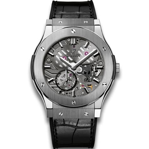 Hublot Titanium Hublot Classico Ultra Thin Skeleton Titanium 45mm