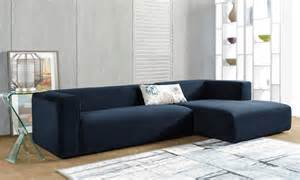 hamlet navy blue velvet sectional with chaise groupon