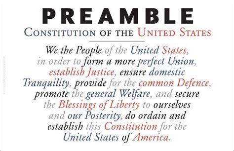 Statue Home Decor Preamble To The Us Constitution As Wall Art A169