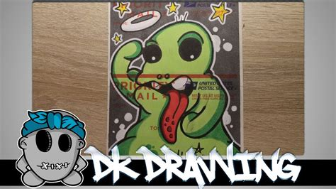 draw  graffiti character  usps sticker blank