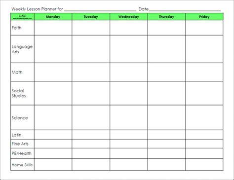 blank lesson plan sheets blank preschool weekly lesson plan template lesson templates weekly