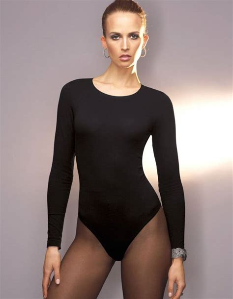 pantyhose tops sleeved guess coisas para usar pinterest bodysuit