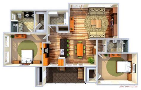 Home Design Realistic 3d Floor Plan Floor Plan Los Angeles By Spacialists