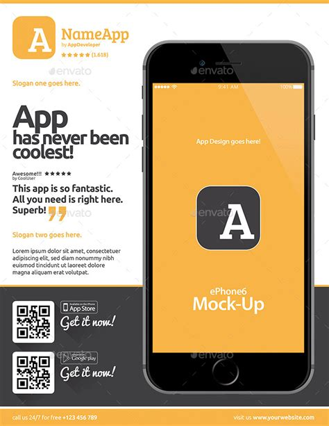 mobile app templates mobile app flyers template 13 by level studio graphicriver