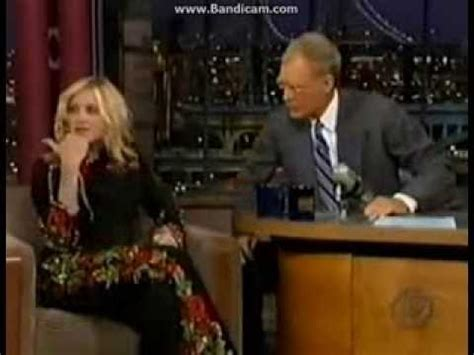 Madonna I Underpants Tonight On The Late Show With David Letterman Mound by Madonna On David Letterman 2000