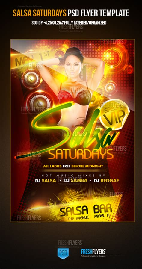template flyer salsa salsa saturdays psd party flyer template by imperialflyers