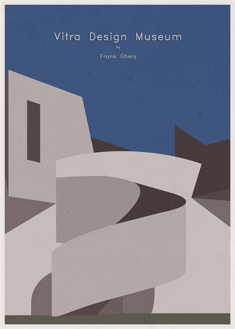 design poster architecture designer salutes iconic museum architecture with