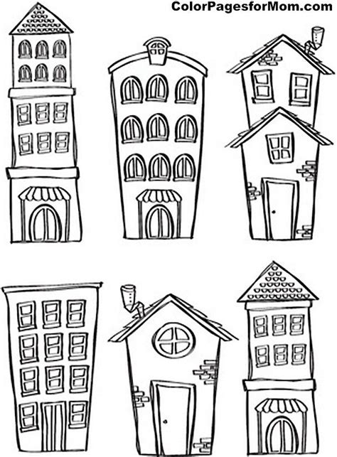 doodle house coloring poster best 25 house drawing ideas on house
