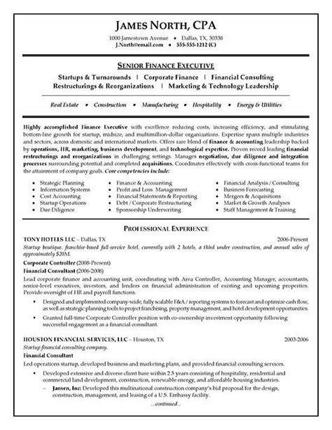 Finance Consultant Sle Resume by Resume Exles And Resume On