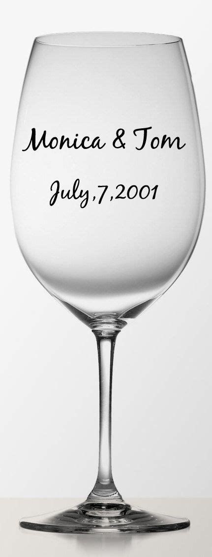 personalized diy wedding name vinyl labels for wine glasses