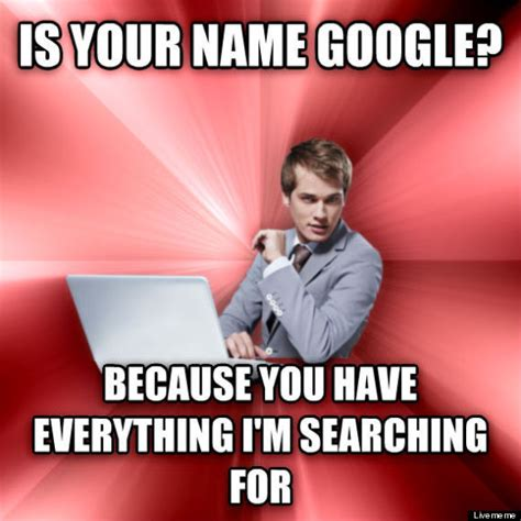 Funny Pick Up Line Memes - it professionals respond to the overly suave it guy meme