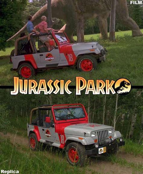 jurassic world jeep scene movie tribute cars jurassic park jeep