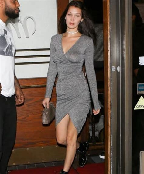 Gray Hadid Dress by Or Hmm Hadid Los Angeles Bardot Harlow Grey
