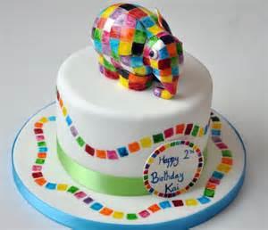 elmer cake elmer elephant cake children s birthday cake novelty cake celebration hand painted