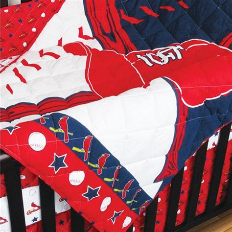 St Louis Cardinals Crib Bedding 4pc Mlb St Louis Cardinals Crib Bedding Set Baseball Baby Quilt Sheets Bedskirt Ebay