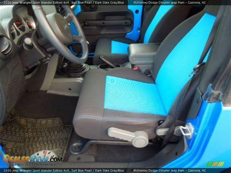 jeep islander interior slate gray blue interior 2010 jeep wrangler sport