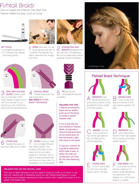 How To Make A Fish Tail Braid With Puffy Thick Hair | diy how to make a fishtail braid pictures photos and