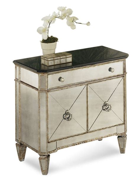 Stanley Dining Room Furniture by Borghese Small Mirrored Chest Antique Mirror Amp Silver