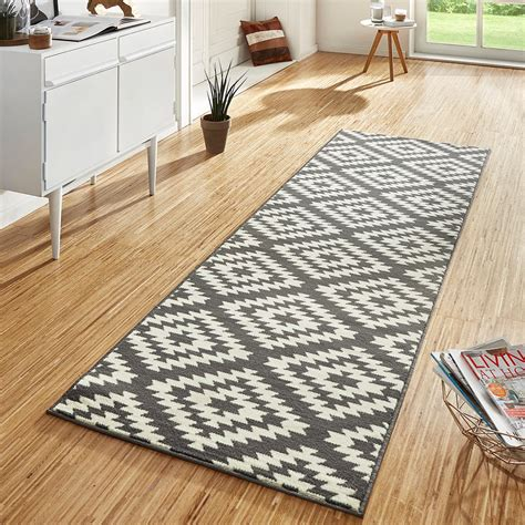 design velours teppichlaeufer bruecke teppich flur kurzflor
