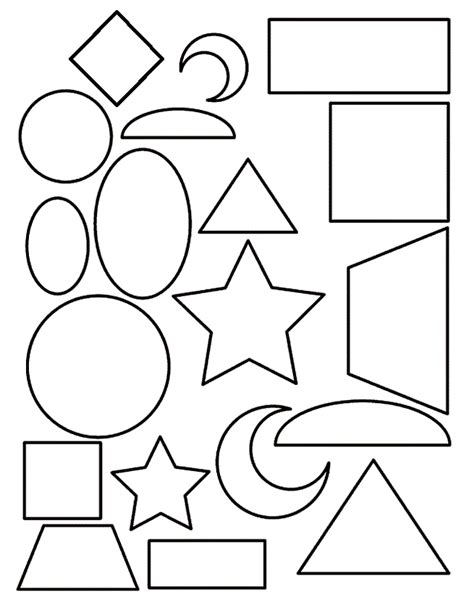 basic shape templates az coloring pages