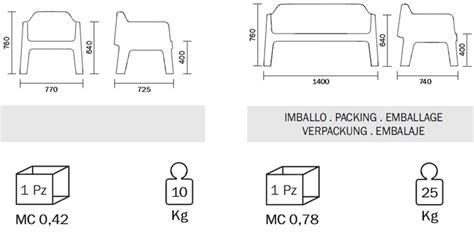 medidas de sillones sill 243 n plus air de pedrali