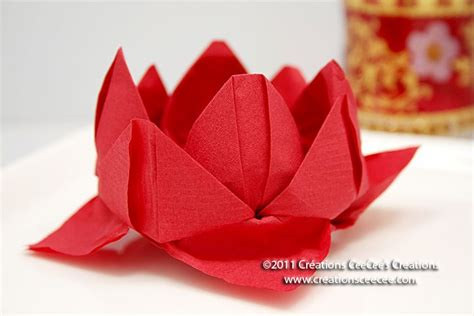 Origami Napkin Flower - napkins lotus flower 4 diy with paper napkin