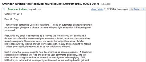 Reply Complaint Letter Airline American Airlines Just Another Site