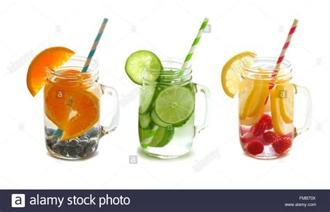 Detox Water Italiano by Three Types Of Fruit Filled Detox Water In Jars With
