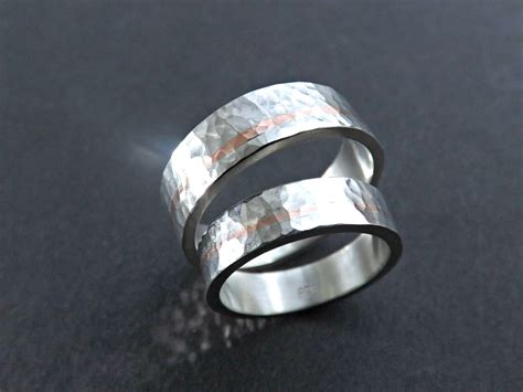 Two Metal Wedding Rings by Mixed Metal Wedding Band Set Unique Wedding Rings Two Tone