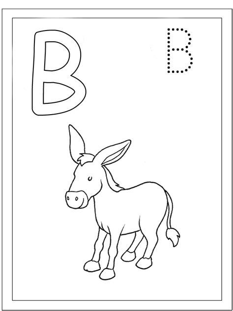 imagenes de animales por la letra b letra b burro dibujalia dibujos para colorear