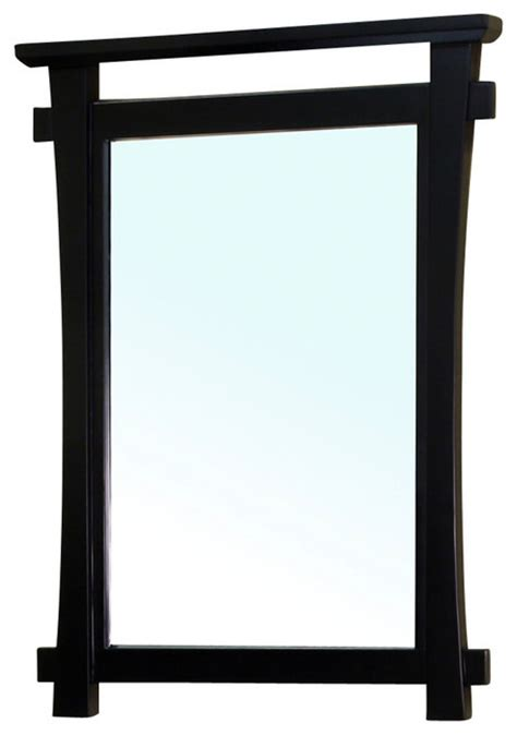 solid wood frame mirror black asian bathroom mirrors