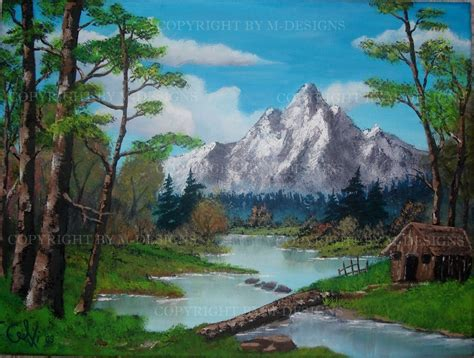 bob ross painting log cabins bob ross cabin paintings www imgkid the image kid