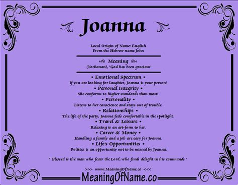 behind meaning joanna meaning of name